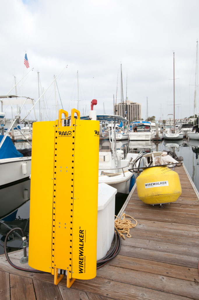 Wirewalker on dock